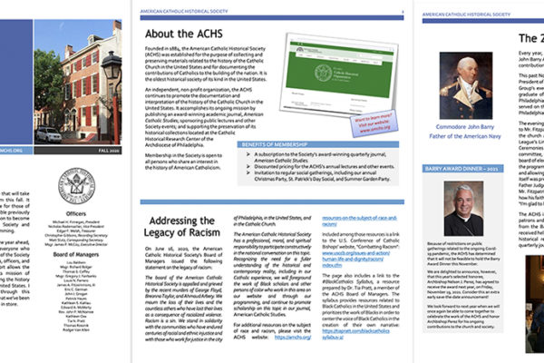 ACHS newsletter 2020