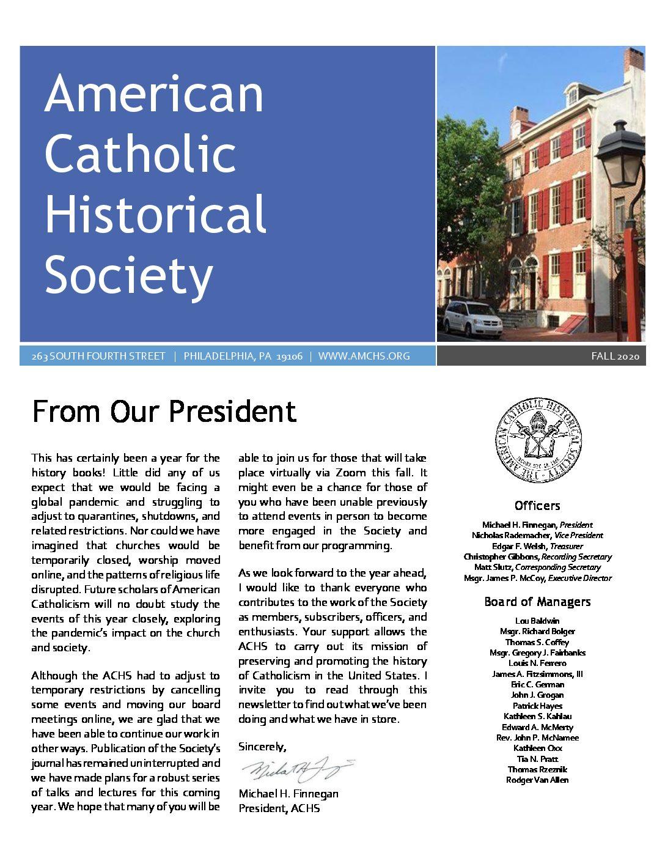 American Catholic Historical Society Logo