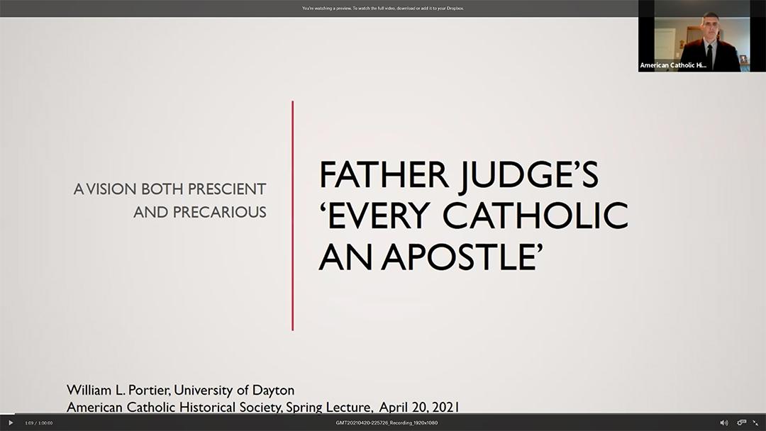 Event recap Father Thomas Judge
